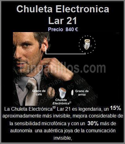 Chuleta Electronica Pinganillo Lar 21 para exámenes