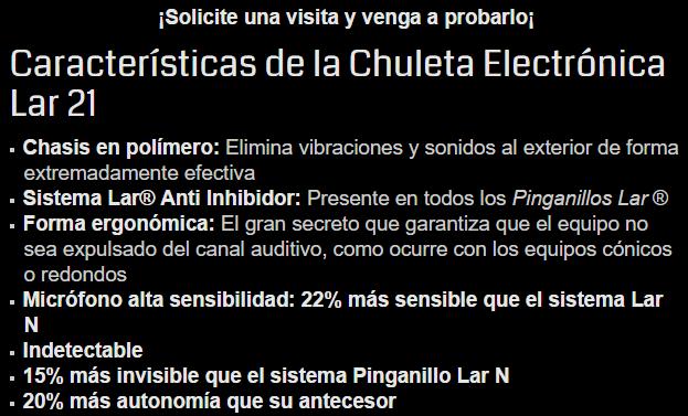Chuleta Pinganillo walkie