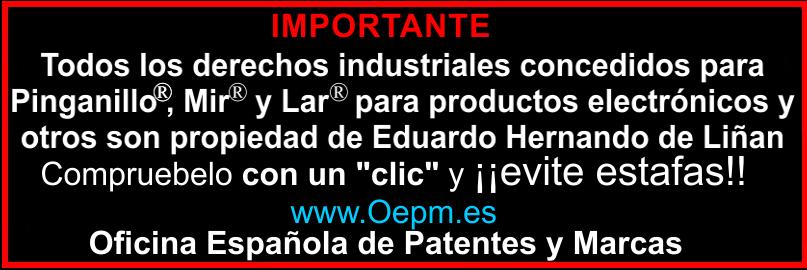 Pinganillo patente marca